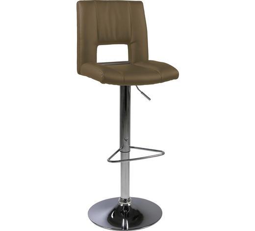 BARHOCKER in Braun, Chromfarben - Chromfarben/Braun, Design, Textil/Metall (41,5/94-115/52cm) - Carryhome