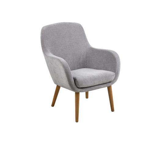 Sessel In Textil Grau Eichefarben Lifestyle Holz 72