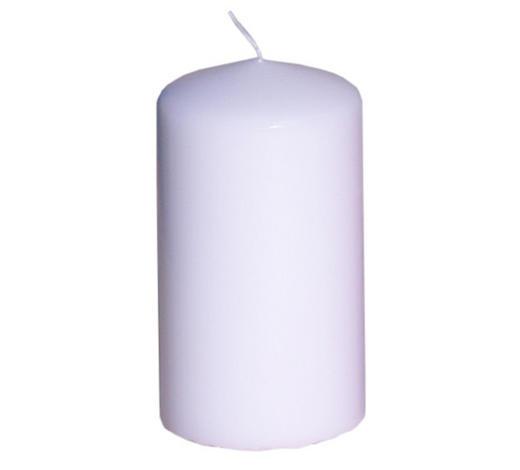 STUMPENKERZE 5,7/10 cm - Weiß, Basics (5,7/10cm) - Steinhart