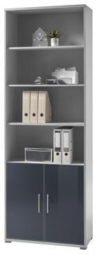 ORMAR ZA DOKUMENTE - boje grafita/svijetlo siva, Design, staklo/drvni materijal (79/220/35cm) - Xora