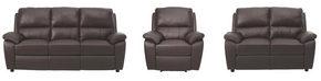 SOFFGRUPP - brun/mörkbrun, Klassisk, läder/textil (198/149/94/95/99cm) - Cantus
