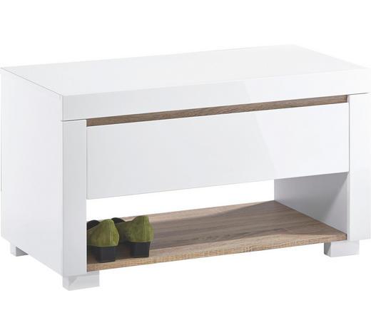GARDEROBENBANK Eiche Sonoma Eiche, Weiß online kaufen ➤ XXXLutz