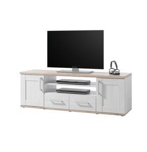 NISKA KOMODA - Srebrna/Crna, Dizajnerski, Plastika/Pločasti materijal (152/50/44cm) - Xora