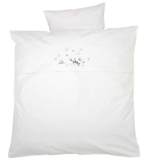 BABYBETTWÄSCHE 80/80 cm - Weiß, Basics, Textil (80/80cm) - Alvi