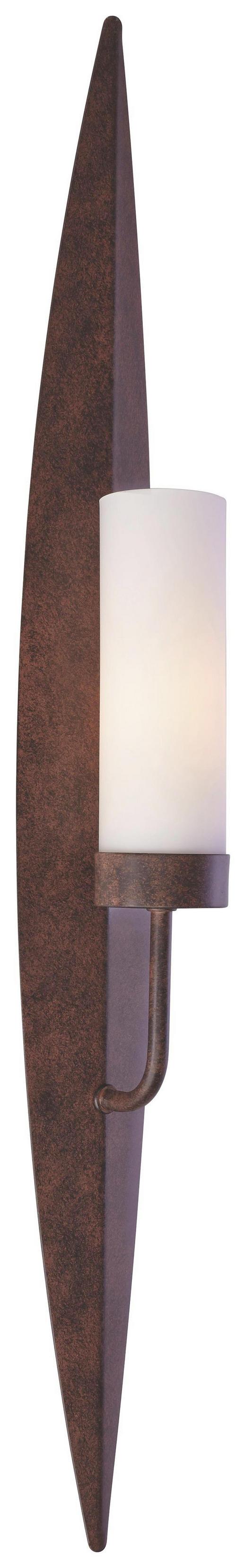 WANDLEUCHTE - Rostfarben, ROMANTIK / LANDHAUS, Glas/Metall (70cm)