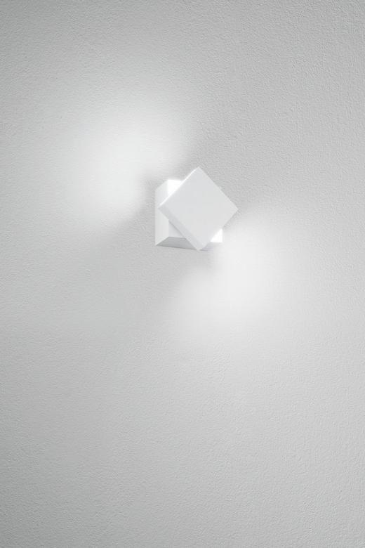 WANDLEUCHTE - Weiß, Design, Metall (6/6/5.3cm)
