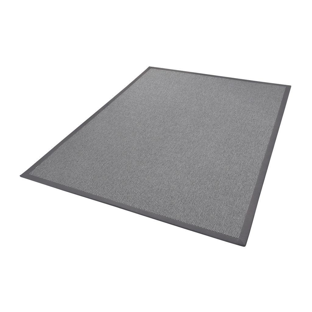 Linea Natura Flachwebeteppich , Grau , Textil , Bordüre , rechteckig , 200 cm , in verschiedenen Größen erhältlich , Teppiche & Böden, Teppiche, Moderne Teppiche