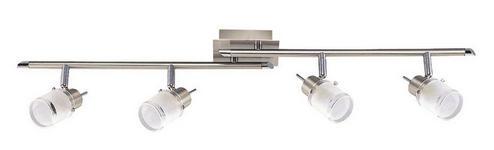 DECKENLEUCHTE - Weiß/Nickelfarben, Design, Glas/Metall (75,5/7/19cm) - BOXXX