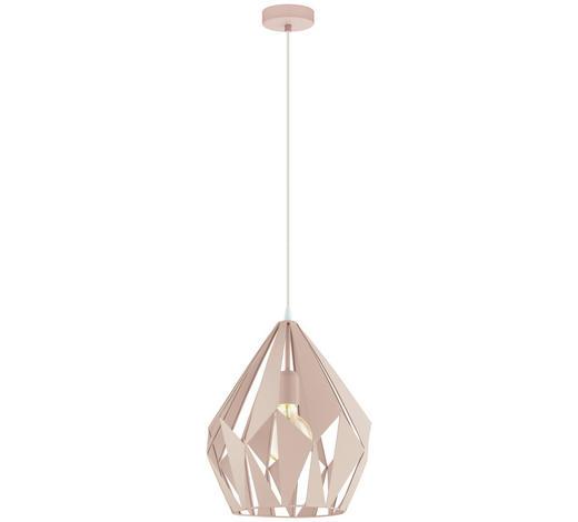 HÄNGELEUCHTE - Hellrosa, Design, Metall (31/150cm)