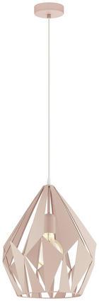 TAKLAMPA - vit/ljusrosa, Design, metall (31/110cm) - Marama
