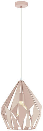 VISEČA SVETILKA 79057 - svetlo roza, Trendi, kovina (31/150cm) - Marama