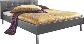 POSTELJA 140 cm   x 200 cm  , les, tekstil črna - črna/krom, Basics, kovina/tekstil (140/200cm) - Boxxx