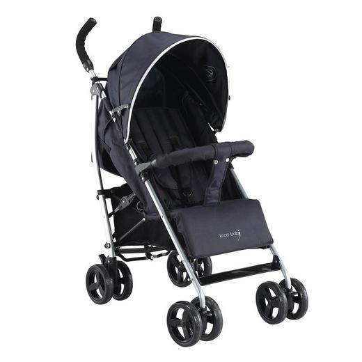 Knorr-Baby Buggy  Styler Happy Colour  Schwarz - Silberfarben/Schwarz, Basics, Textil/Metall (67/48/98cm)