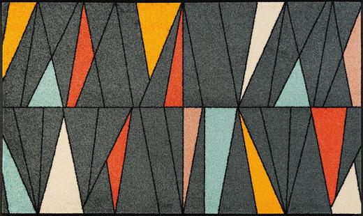 FUßMATTE 75/120 cm Graphik Multicolor - Multicolor, Kunststoff/Textil (75/120cm) - Esposa