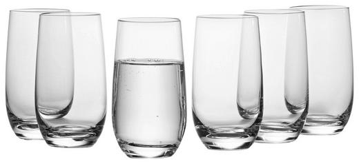 Becher-Set 6-teilig - Klar, Basics, Glas (7/13/7cm) - Leonardo