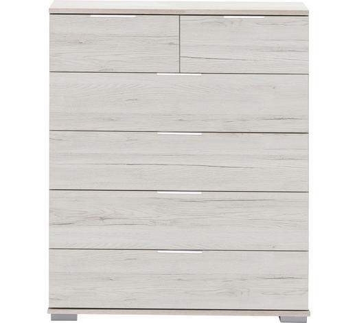 KOMMODE 82/102/42 cm - Eichefarben/Alufarben, Design, Holzwerkstoff/Kunststoff (82/102/42cm) - Carryhome