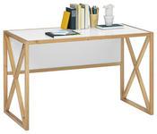 JUGENDSCHREIBTISCH Pinie massiv Weiß, Kieferfarben  - Weiß/Kieferfarben, Basics, Holz (120/75/60cm) - Xora