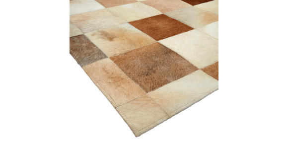 LEDERTEPPICH 160/230 cm - Beige, Natur, Leder/Textil (160/230cm) - Linea Natura