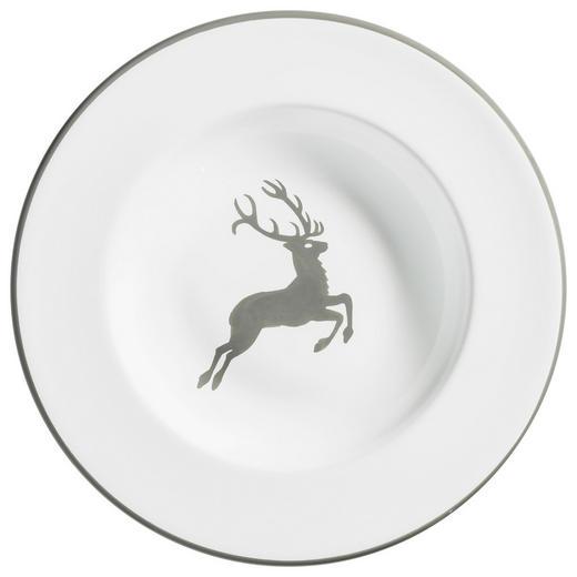 SUPPENTELLER 24 cm - Weiß/Grau, LIFESTYLE, Keramik (24cm) - Gmundner