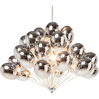 HÄNGELEUCHTE - Silberfarben, Design, Glas/Metall (60/58/60cm) - Kare-Design