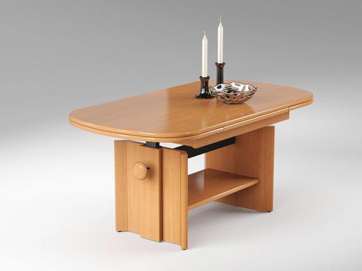 COUCHTISCH rechteckig Buchefarben - Buchefarben, Design (120/65/54cm) - Carryhome