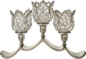 LJUSSTAKE - klar/silver, Lifestyle, metall/glas (34/9/22cm) - Ambia Home