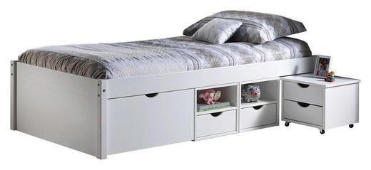 STAURAUMBETT 90/200 cm - Weiß, LIFESTYLE, Holz (90/200cm) - Carryhome