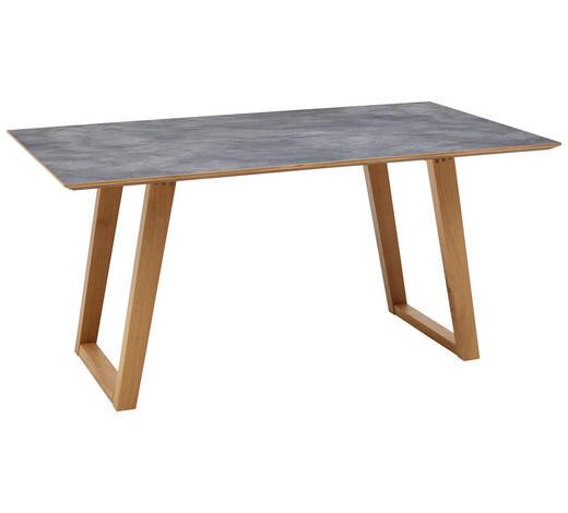 ESSTISCH in Holz, Kunststoff 220/100/76 cm - Eichefarben/Grau, KONVENTIONELL, Holz/Kunststoff (220/100/76cm) - Dieter Knoll