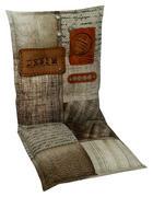 PODLOŽKA NA ŽIDLI - přírodní barvy/hnědá, Design, textil (50/100cm)