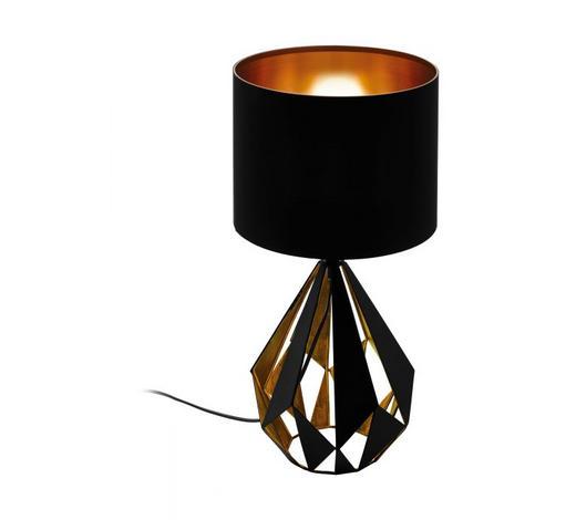 TISCHLEUCHTE - Schwarz/Kupferfarben, Design, Textil/Metall (25/51cm)
