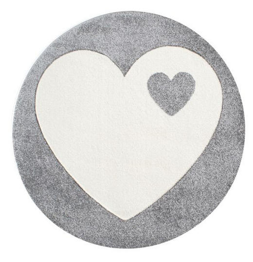 KINDERTEPPICH   Silberfarben, Weiß - Silberfarben/Weiß, Trend, Textil (133cm)