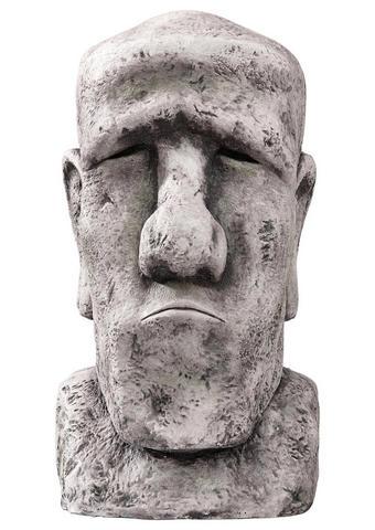 Osterinsel-Kopf 62 cm - Grau, KONVENTIONELL, Keramik (38/62/32cm)