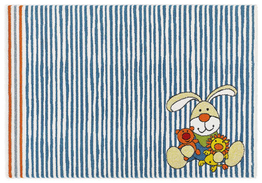 KINDERTEPPICH  133/200 cm  Blau, Orange - Blau/Orange, Basics, Textil (133/200cm) - Sigikid