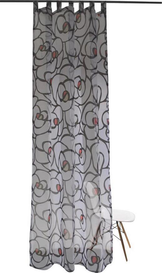 SCHLAUFENSCHAL  transparent  145/255 cm - Graphitfarben/Weiß, Design, Textil (145/255cm)
