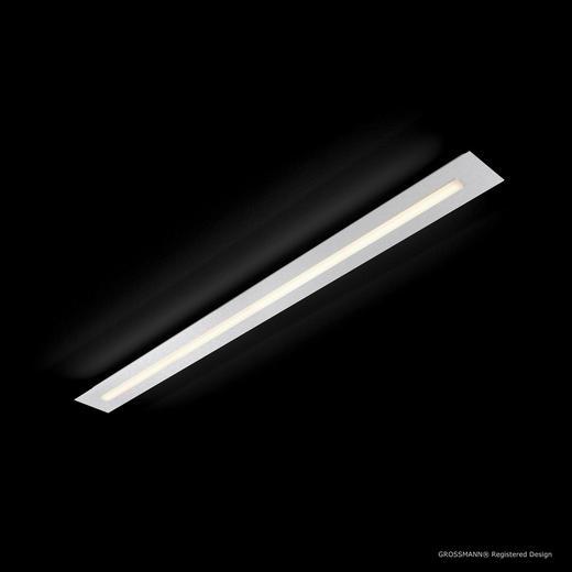 LED-DECKENLEUCHTE - Alufarben, Design, Metall (104/9/4,4cm)
