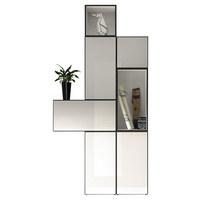 KOMBINACE REGÁLŮ - bílá, Design, dřevěný materiál (112,5/225/39,2cm) - Hülsta - Now