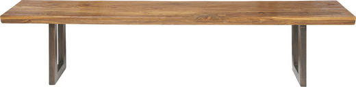 SITZBANK Teakholz massiv - Design, Holz/Metall (160/45/36cm) - Kare-Design