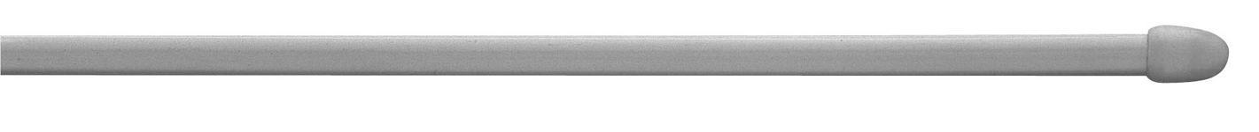 Vitragenstange Silberfarben - Silberfarben, KONVENTIONELL, Kunststoff/Metall (100cm) - Ombra