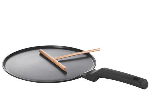 CREPESPFANNE 28 cm PTFE-Antihaftbeschichtung - Schwarz, Basics, Metall (28cm) - Schulte Ufer