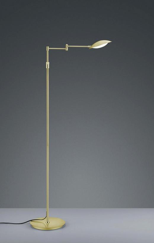 LED-STEHLEUCHTE - Messingfarben, Design, Kunststoff/Metall (150cm)