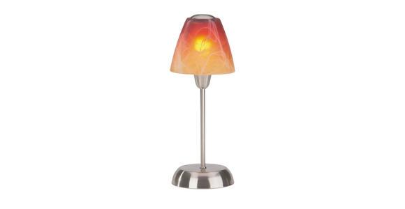 Tischleuchte Meli - Rot/Orange, KONVENTIONELL, Glas/Kunststoff (35cm) - Ombra