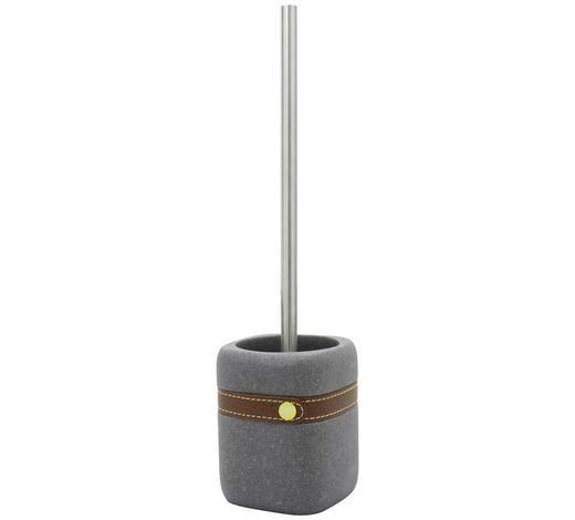 WC-BÜRSTENGARNITUR in Metall - Edelstahlfarben/Grau, Basics, Kunststoff/Metall (9,5/37/9,5cm) - Sadena