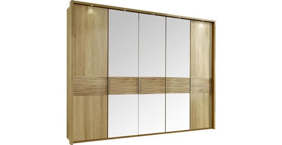 DREHTÜRENSCHRANK in Eichefarben  - Eichefarben, Design, Glas/Holz (250/216/58cm) - Dieter Knoll
