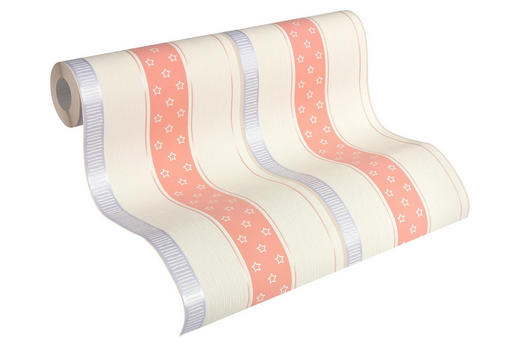 VLIESTAPETE 10,05 m - Blau/Orange, Design, Textil (53/1005cm) - Esprit