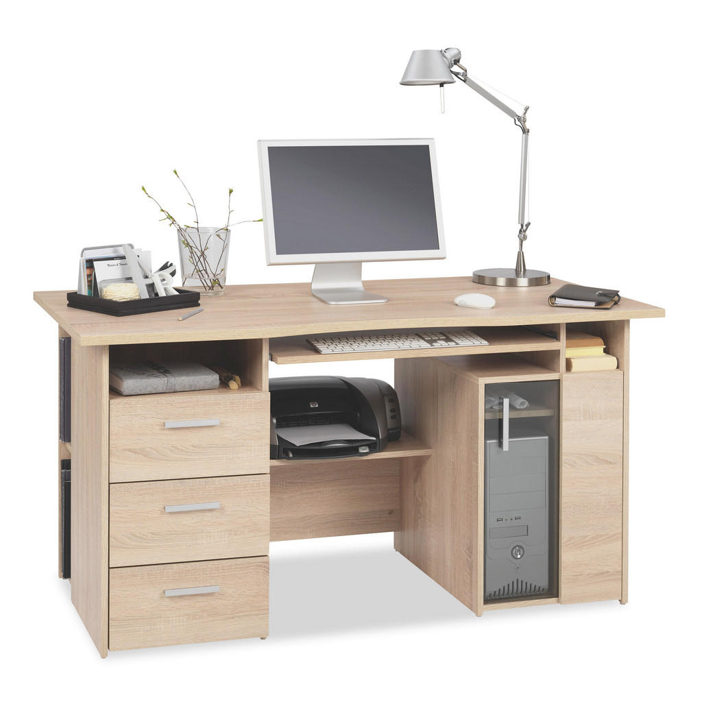 Venda COMPUTERTISCH Beige | Büro > Bürotische > Computertische | Glas | Venda