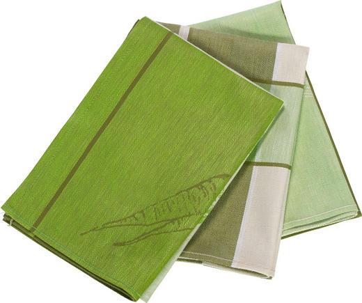 GESCHIRRTUCH-SET - Grün, Design, Textil (50/70cm) - Esposa