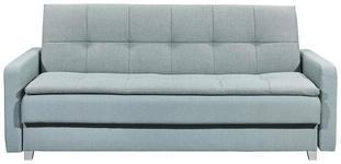 SCHLAFSOFA in Textil, Holzwerkstoff Blau  - Blau/Silberfarben, MODERN, Holzwerkstoff/Kunststoff (216/95/88cm) - Carryhome