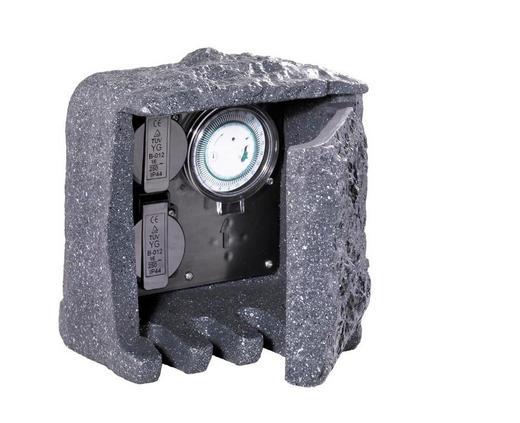 STECKDOSENELEMENT - Grau, LIFESTYLE, Kunststoff (19,0/20,0/20,0cm)
