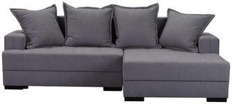 WOHNLANDSCHAFT in Textil Grau  - Dunkelbraun/Grau, KONVENTIONELL, Kunststoff/Textil (238/148cm) - Carryhome
