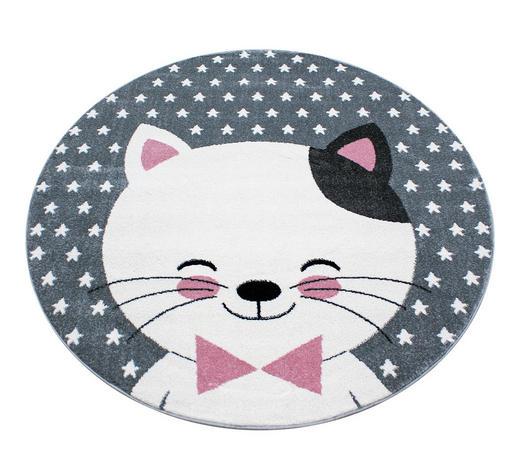 KINDERTEPPICH   Grau, Weiß, Pink   - Pink/Weiß, Trend, Textil (160cm) - Ben'n'jen